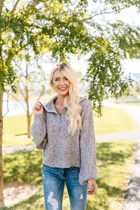 Speckled Gray Pullover