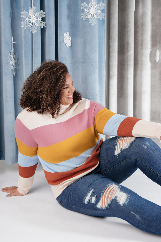 Stripes And A Turtle Neck Sweater - Everest & Co.