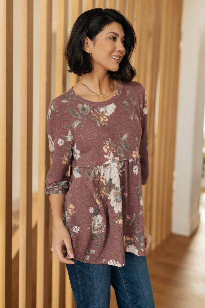 The Floral Babydoll Top - Everest & Co.