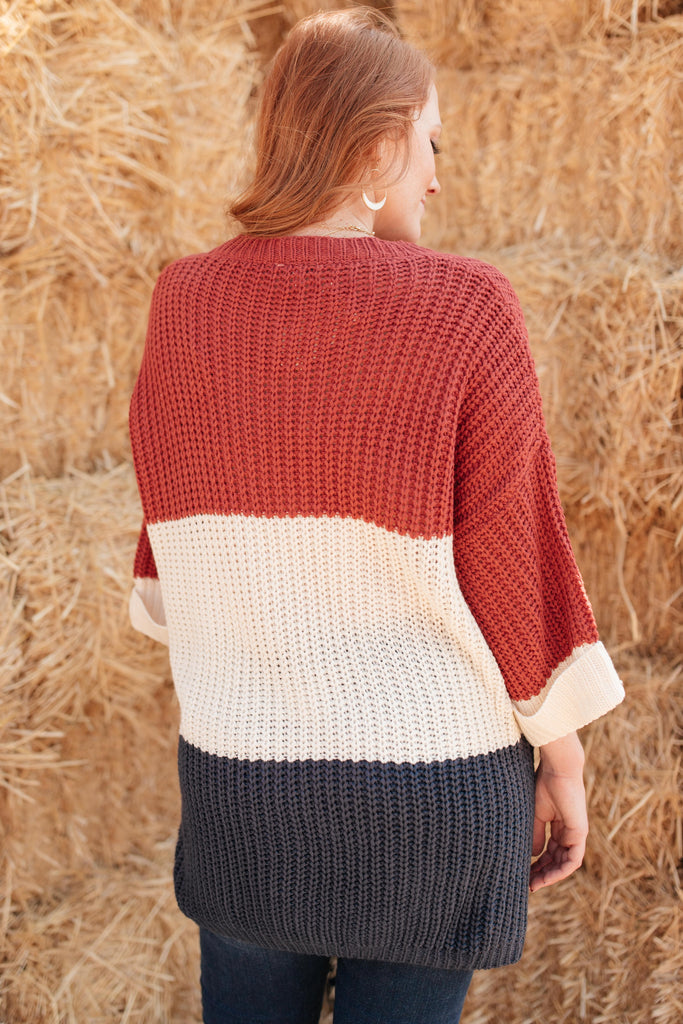 Three Times The Color Sweater in Navy Combo - Everest & Co.