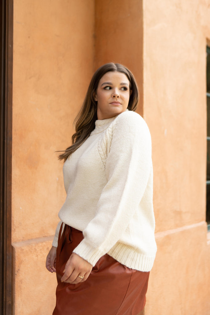 Your Favorite Knit Sweater in Cream - Everest & Co.