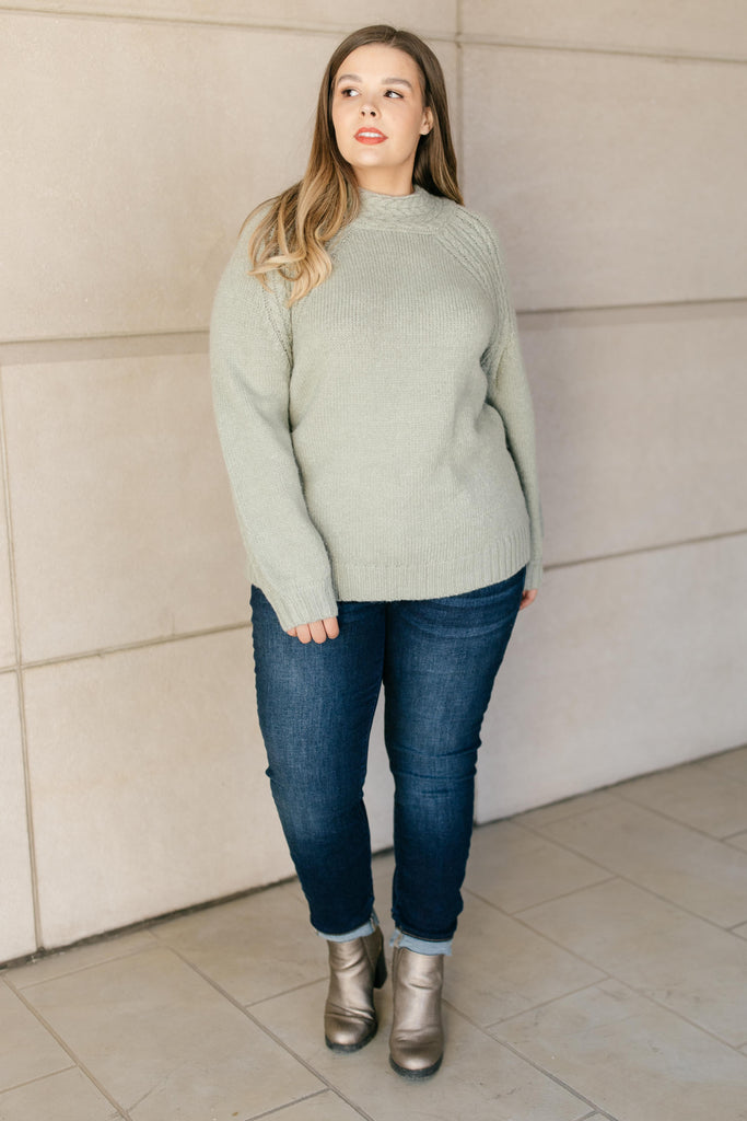 Your Favorite Knit Sweater in Lime - Everest & Co.