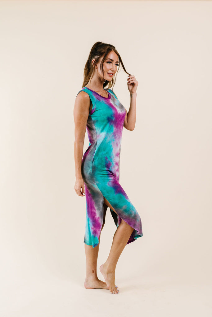 Cool Vibes Tie Dye Midi Dress - Everest & Co.