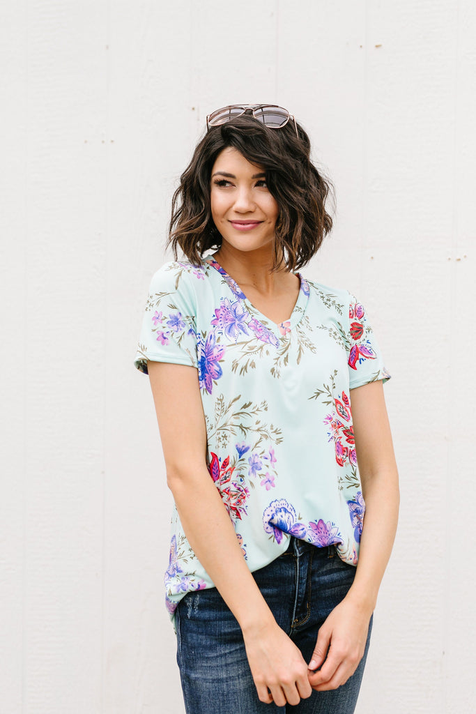 Mint garden V-Neck - Everest & Co.