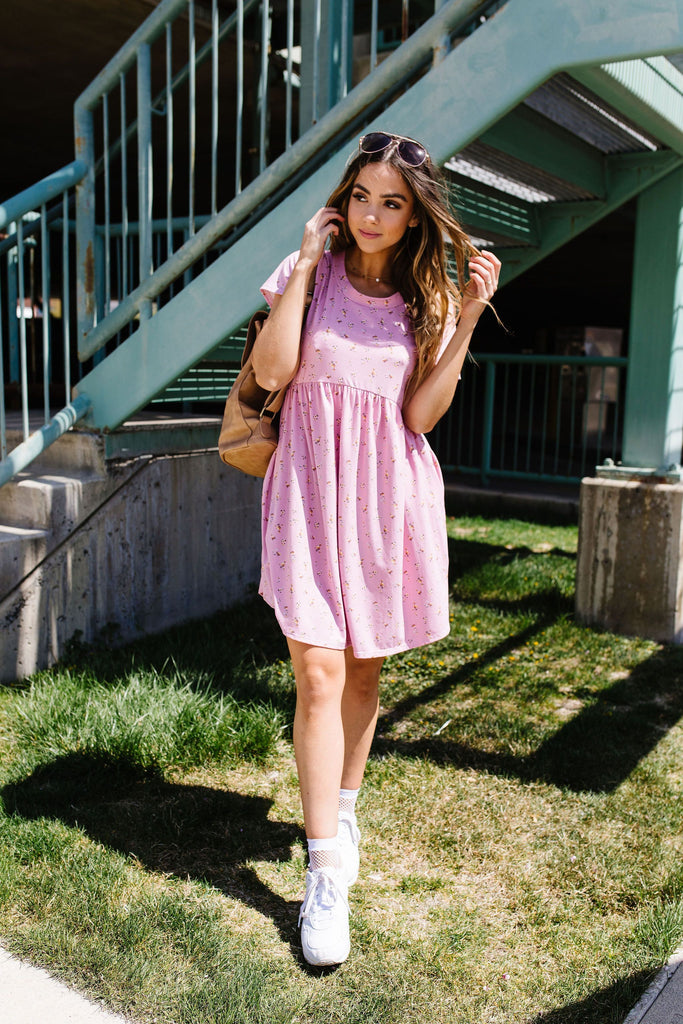 Wee Floral Babydoll Dress In Pink - Everest & Co.