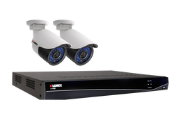 Lorex HD Security Camera System with 4 Channel NVR Includes 2 Cameras