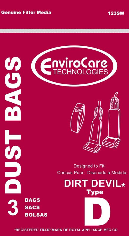 Dirt Devil Vacuum Bag type D