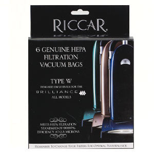 Riccar Vacuum Bag Brilliance HEPA Type W