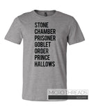 Potter Books List T-Shirt - Fan T-Shirt