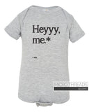 Hey Me Jude Baby Bodysuit for Baby Shower Gift, One-piece Baby Romper Unisex