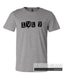 LVL 7 Band Shirt - T-Shirt - Men's Short sleeve T-shirt by MicroThreads Apparel