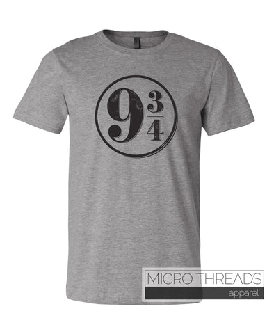 Platform 9 3/4 - Unisex Short sleeve T-shirt by MicroThreads Apparel