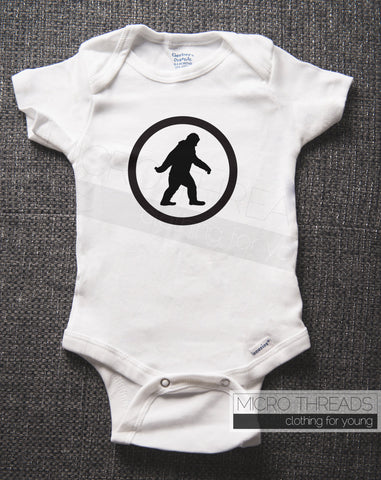 Sasquatch - Big Foot Baby Boy Clothes for a Baby Shower Gift - Baby Bodysuit - Romper