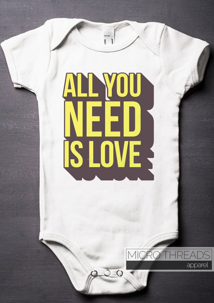 e143c2f9a2d4 All You Need is Love Baby Bodysuit - Baby Shower Gifts - Unisex Baby ...