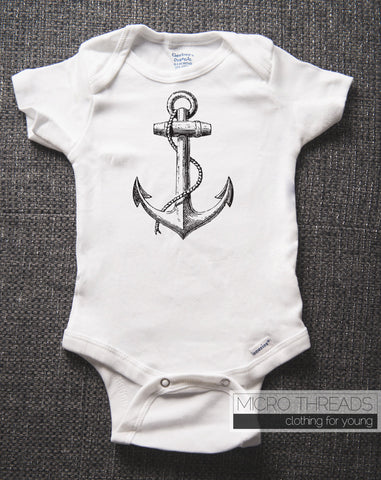 Ship Anchor - Nautical - Baby One-piece Bodysuit