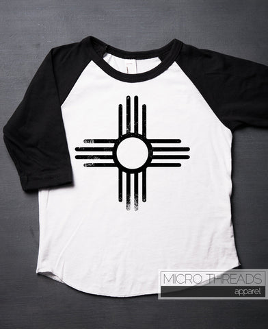 Southwestern Zia - New Mexico - Baby and Toddler T-shirt - Raglan - Tribal