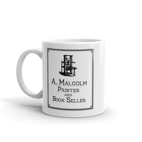 A Malcolm Printer and Bookseller - Outlander Mug