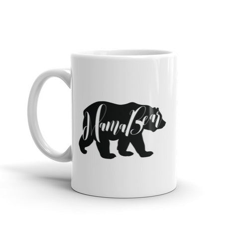 Mama Bear Mug - Inspirational Mugs by MicroThreads Apparel