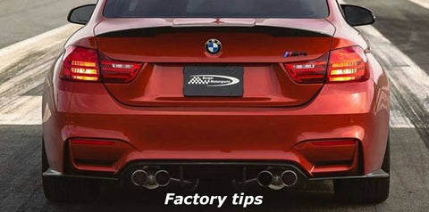 BMS BMW S55 FM 3.75 Set of 4 Slip-On Exhaust Tips (M3 & M4) ML Performance UK