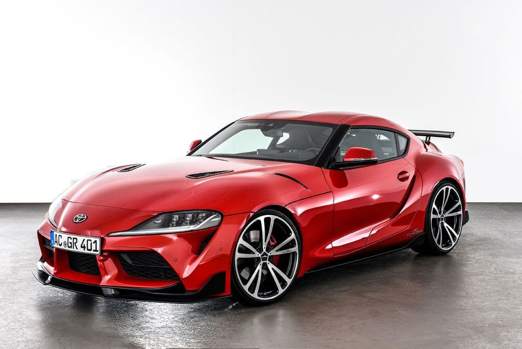 """AC Schnitzer Toyota A90 GR Supra 20"""" AC3 Flow Formed Bi-colour Alloy Wheel Set With Tyres"""