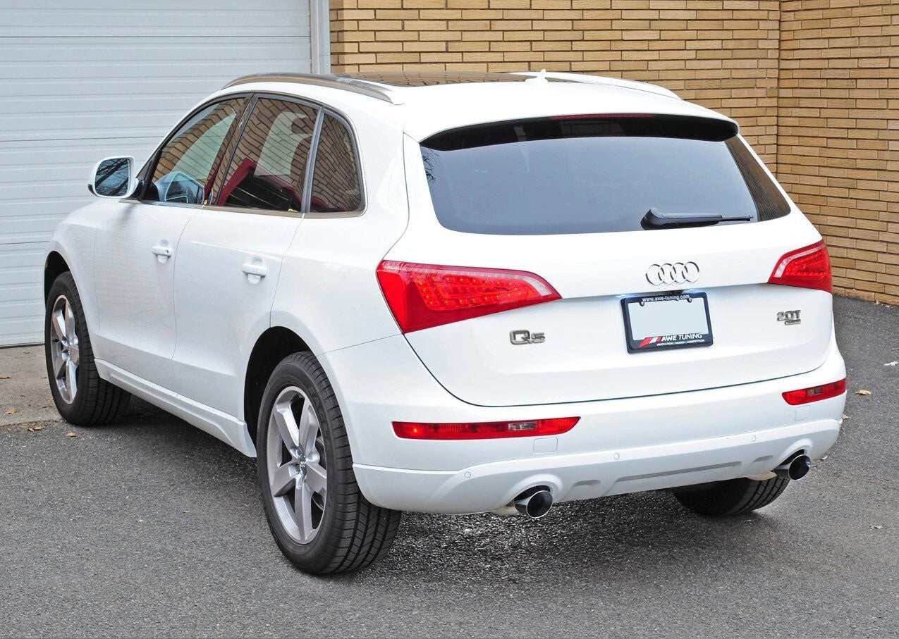 AWE Tuning Audi 2.0 TFSI B8 Q5 Touring Edition Exhaust with Chrome Tailpipes - ML Performance UK