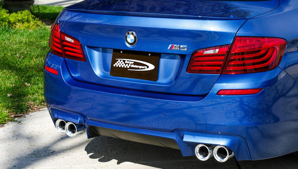 BMS BMW F80 F82 F83 Billet 3.75inch Exhaust Tips M2, M3, M4 Silver Fitted 2 - ML Performance UK