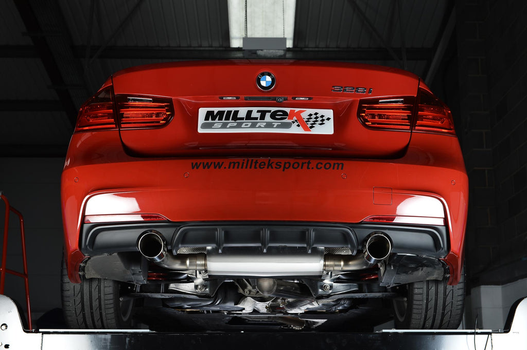 MillTek BMW N20 3 Full Exhaust System 3 Series F30 328i (AutoWithout Tow Bar) - ML Performance UK