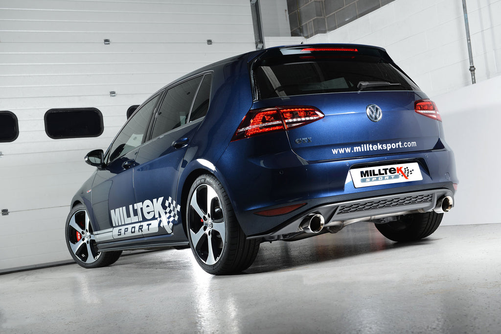 MillTek Volkswagen Golf MK7 GTi Cat-Back Exhaust (GTi Performance Pack, Clubsport & Clubsport S models) - ML Performance UK