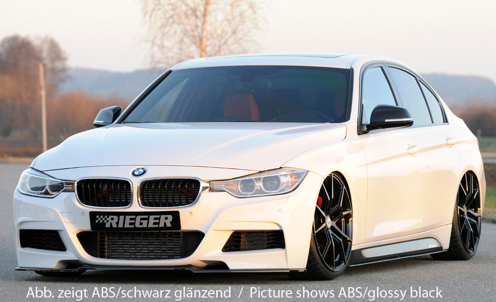 Rieger BMW F30 F31 Front Splitter (Inc. 320i, 335i & 340i) - ML Performance UK