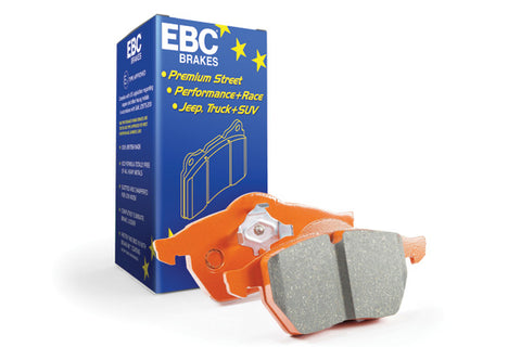 EBC Audi Seat Skoda Volkswagen Orangestuff Race Rear Brake Pads - TRW Caliper (Inc. 8P A3, 1P Leon, 1Z Octavia & MK6 Golf GTI) | ML Performance UK