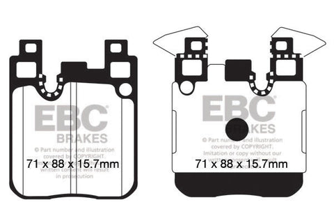 EBC Yellowstuff Street&Track Front Brake pads M135i ML