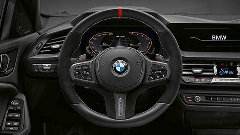 Genuine BMW M Performance F40 F44 G20 G29 Leather Carbon Steering Wheel Cover (Inc. M135ix, , M235iX, M340i & Z4 M40i) - ML Performance UK