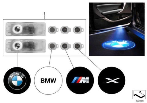 Genuine BMW Door Projector Entry Step Logo Emblem Light