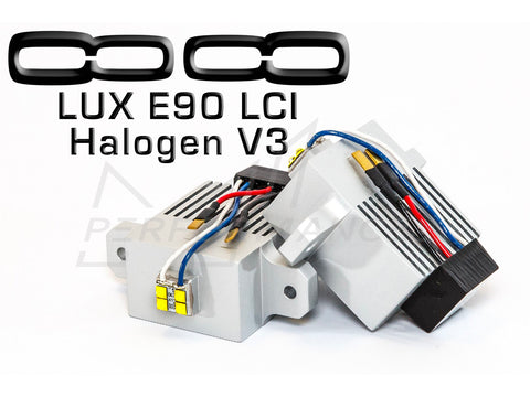 LUX BMW E90 LCI HALOGEN V3 Angel Eyes - ML Performance UK