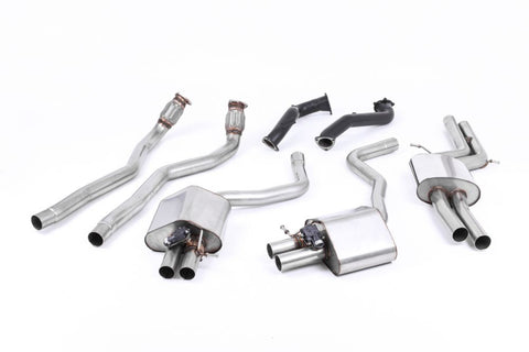 MillTek Audi C7 Complete Exhaust System With Catalyst Bypass (RS6 & RS7) | ML Performance UK