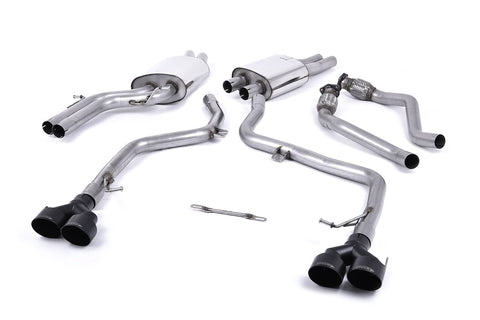 MillTek Audi S5 Non-Resonated Cat-Back Exhaust System