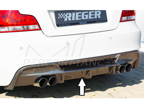 Rieger BMW 1 Series E82 E88 Rear Quad Diffuser (Inc. 118i, 120i, 128i & 135i) - ML Performance UK