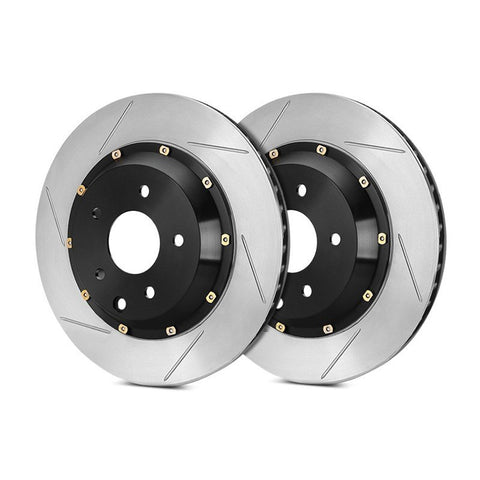 StopTech BMW F80 F82 2-Piece Front Brake Discs (Pair) (M3 & M4) - Drilled non-coated - ML PERFORMANCE UK