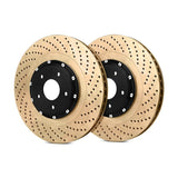 StopTech BMW F80 F82 2-Piece Front Brake Discs (Pair) (M3 & M4) - Drilled coated - ML Performance UK