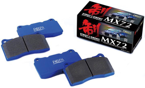 Endless PORSCHE MX72 Front Brake Pads (Boxster, Boxster S, Boxster 718, Cayman, 911 Carrera 2 / 4) - ML Performance UK