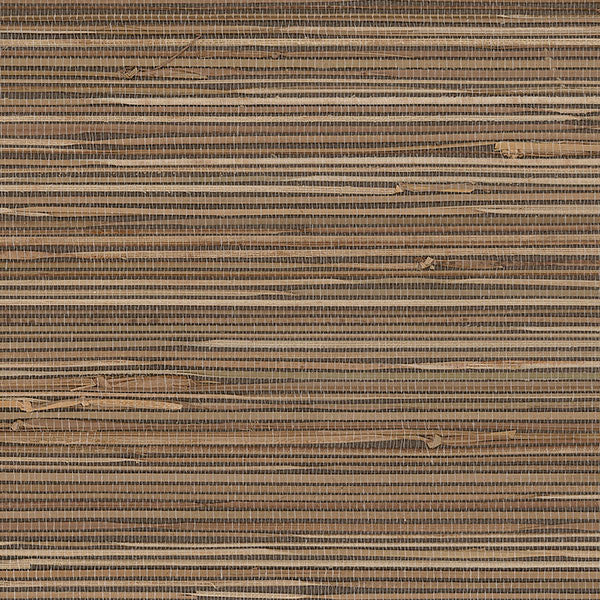 Designer Grasscloth - Boodle Brown, Cream - 488-436