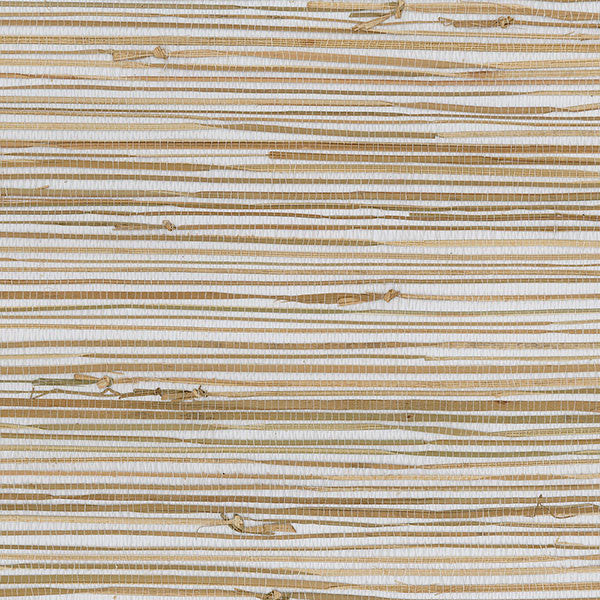 Designer Grasscloth - Boodle White, Natural - 488-438