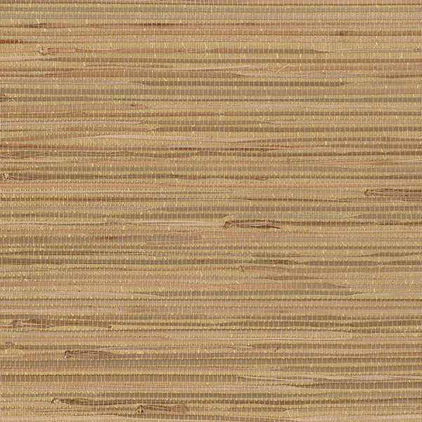 Designer Grasscloth - Buddle Foil Backed, gold, tan - 488-441