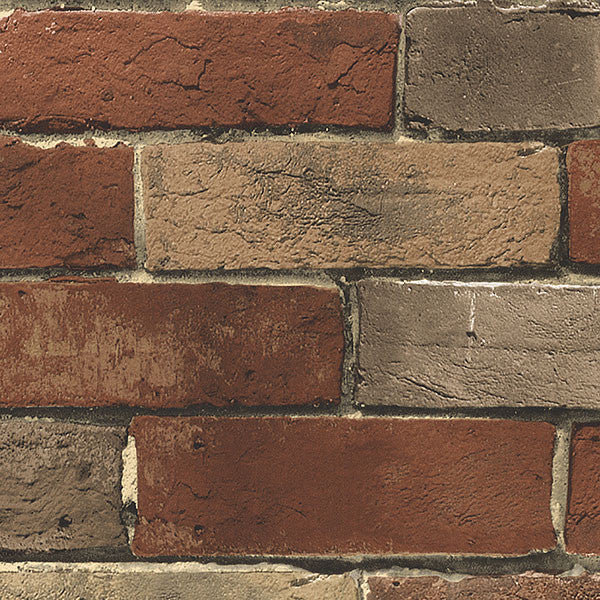 Photo Brick Rust, Beige - BG21584