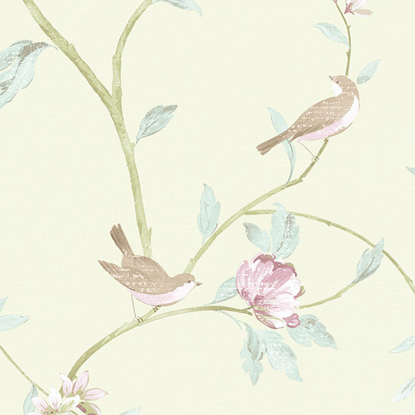 Birds, Green, Floral  - CG28804