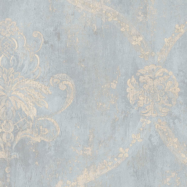Regal Damask Blue, Beige - CH22567