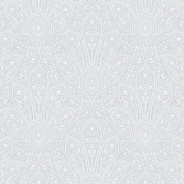 Distressed Paisley Gray, Light Gray - FH37549