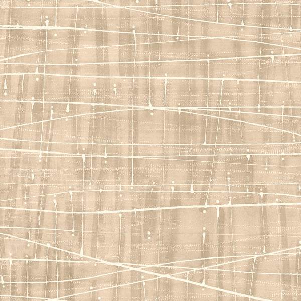 Meander Wallpaper in Cream & Browns - FW36855