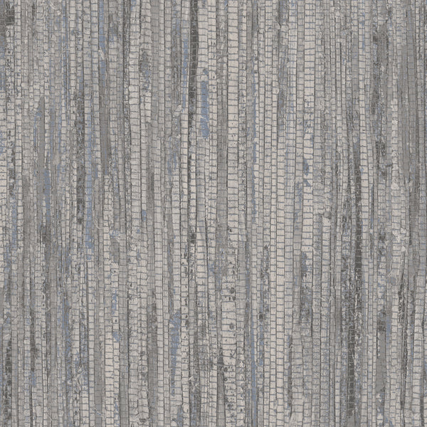 Rough Grass Wallpaper in shades of Gray & Blue - G67964