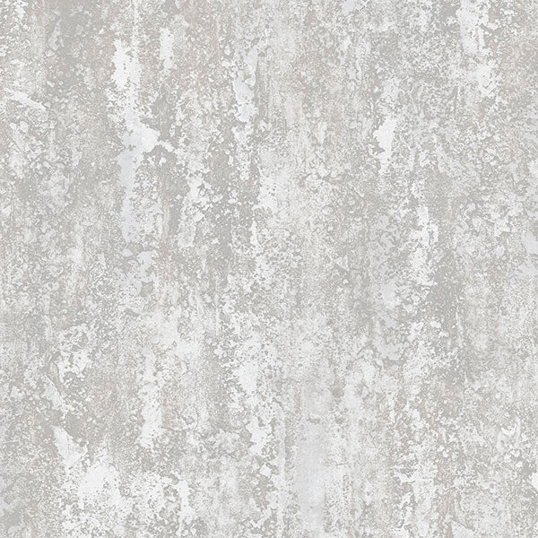 Plaster Effect Metallic Silver, Grey - IM36433